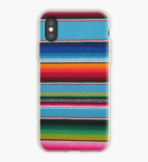 Mexican serape device cases Baby Blue iPhone Case