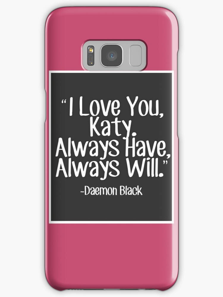 "Samsung Quote Beauteous Lux Series Quote  I Love You Katy"" Samsung Galaxy Cases & Skins"