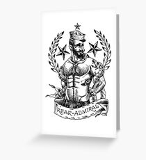 Rear Admiral Greeting Card