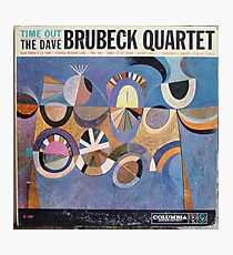 Time Out, Dave Brubeck Quartet, Original Mono cover Photographic Print