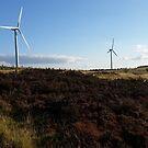 Hedleyhope Fell Wind Turbines by Richard Winskill