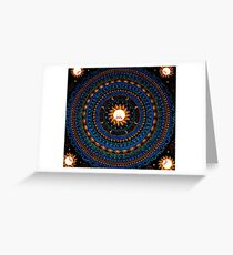 Rick And Morty Sun Tapestry  Greeting Card