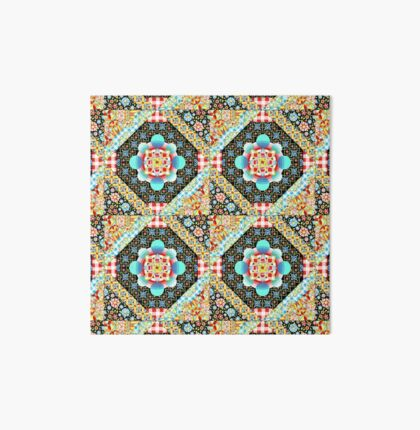 Bricolage Patchwork Quilt (small scale) Art Board