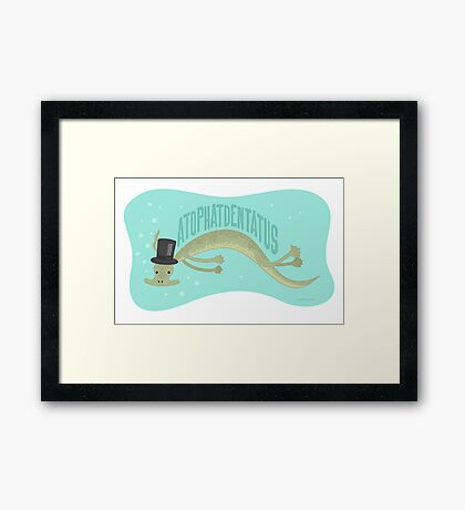 A-top-hat-dentatus Framed Print