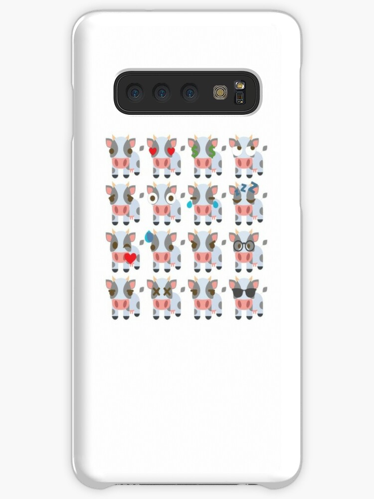 'Cow Emoji Different Facial Expressions' Case/Skin for Samsung Galaxy by  teeandmee