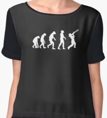 Evolution Of Trombone Funny Women's Chiffon Top