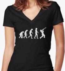 Evolution Of Trombone Funny Women's Fitted V-Neck T-Shirt