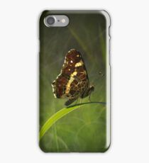Impression with brown butterfly iPhone Case/Skin