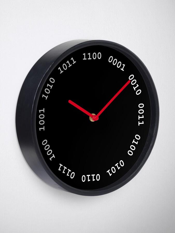 Alternate view of Binary clock, white lettering Clock