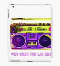 RETRO 80S BOOMBOX WIFI HIFI iPad Case/Skin