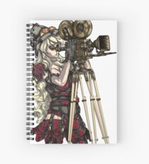 Steampunk-Inspired Girl with Old Film Camera Spiral Notebook