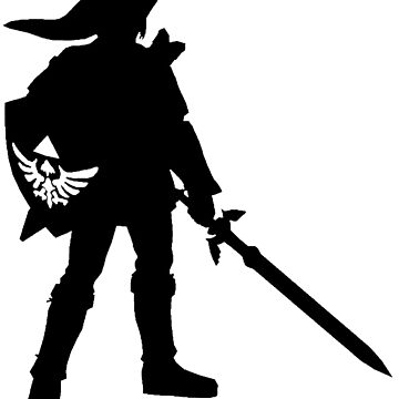 The Legend of Zelda Link Silhouette by surfking