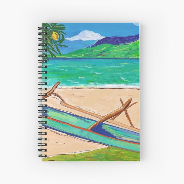 Tahiti Outrigger Spiral Notebook