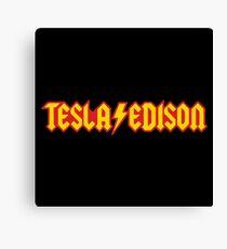 Tesla Edison Canvas Print