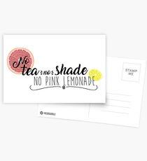No Tea No Shade Postcards