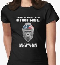 Take a Shot for Harambe, He took one For You Women's Fitted T-Shirt