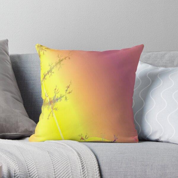 Sunny Secrets Fractal Design Throw Pillow