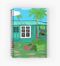 Hawaii Cottage Spiral Notebook
