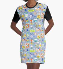 Stationary Graphic T-Shirt Dress