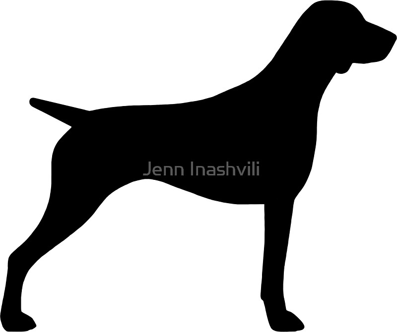 German Shorthaired Pointer Silhouettes Stickers By Jenn - Sporting dog decals