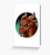 Dragonborn Cleric (Normal) Greeting Card