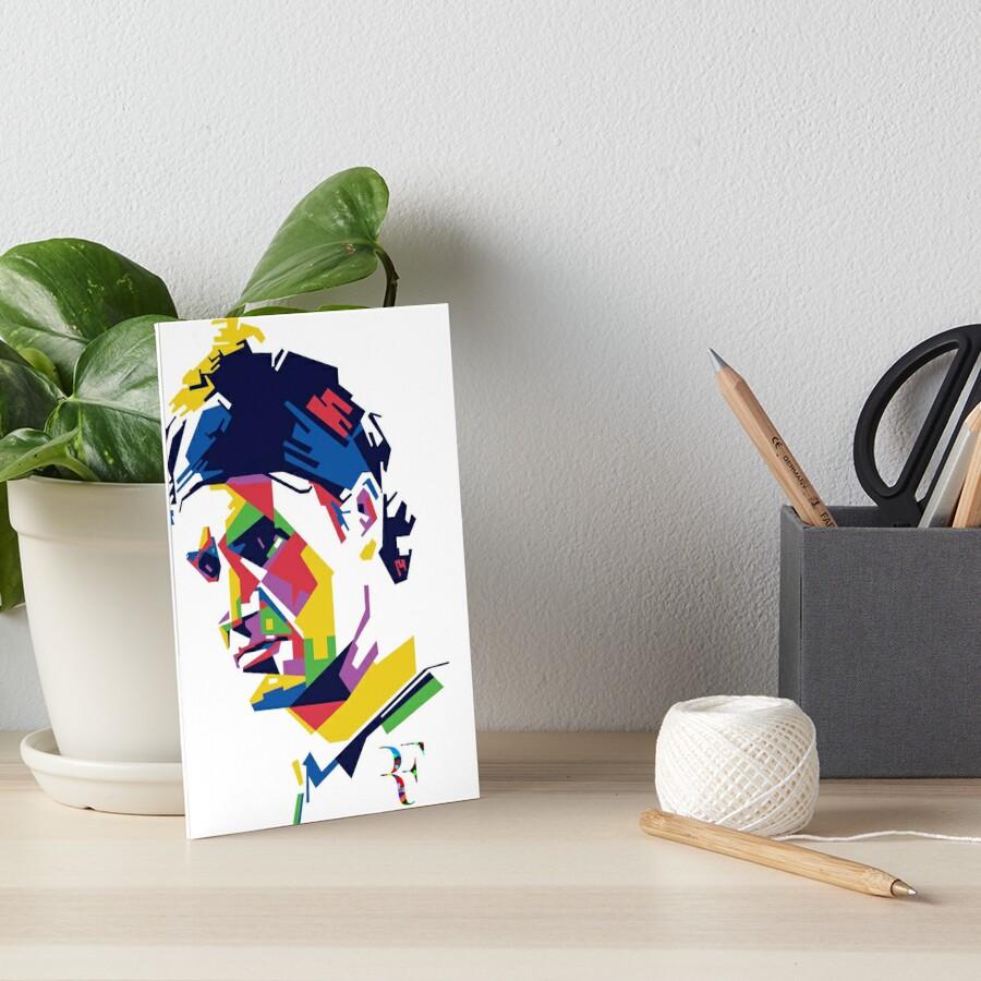 Roger Federer art Art Board Print
