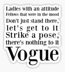 Strike a pose Sticker