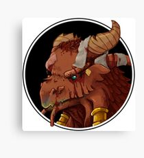Dragonborn Cleric (Injured) Canvas Print