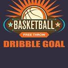 «Objetivo de driblar de tiro libre de baloncesto» de nasa8x