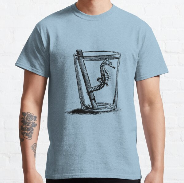 Seepferdchen im Wasserglas - schwarz Classic T-Shirt