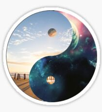Yin Yang Earth and Space Sticker