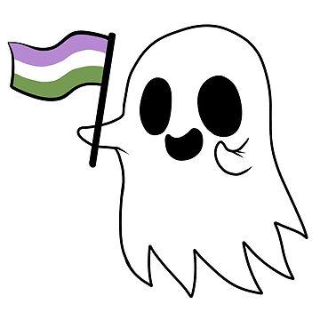 Agender/Genderqueer Pride Ghost by RessQ