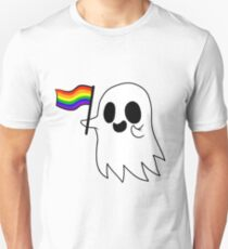 Gay Pride Ghost Unisex T-Shirt