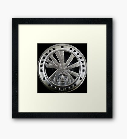 Indian Chief Horn Face Framed Print