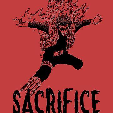 Gai Sensei Sacrifice 8 Gates by Bukeater
