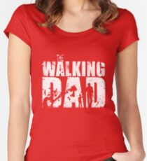 The Walking Dad Cool TV Shower Fans Design Women's Fitted Scoop T-Shirt