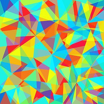 colorful abstract lowpoly by yosard