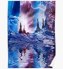 Cavern of Castles painting in wax Poster