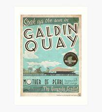 Besuchen Sie den schönen Galdin Quay! Kunstdruck