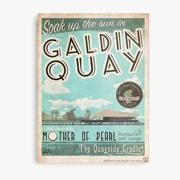 Visit Beautiful Galdin Quay! Metal Print