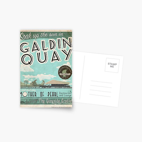 Visit Beautiful Galdin Quay! Postcard