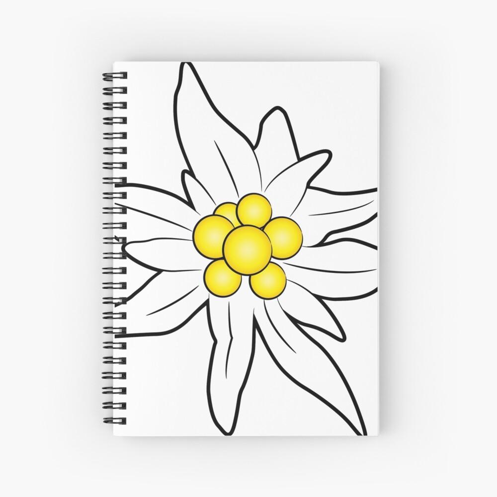 Edelweiss flower Spiral Notebook