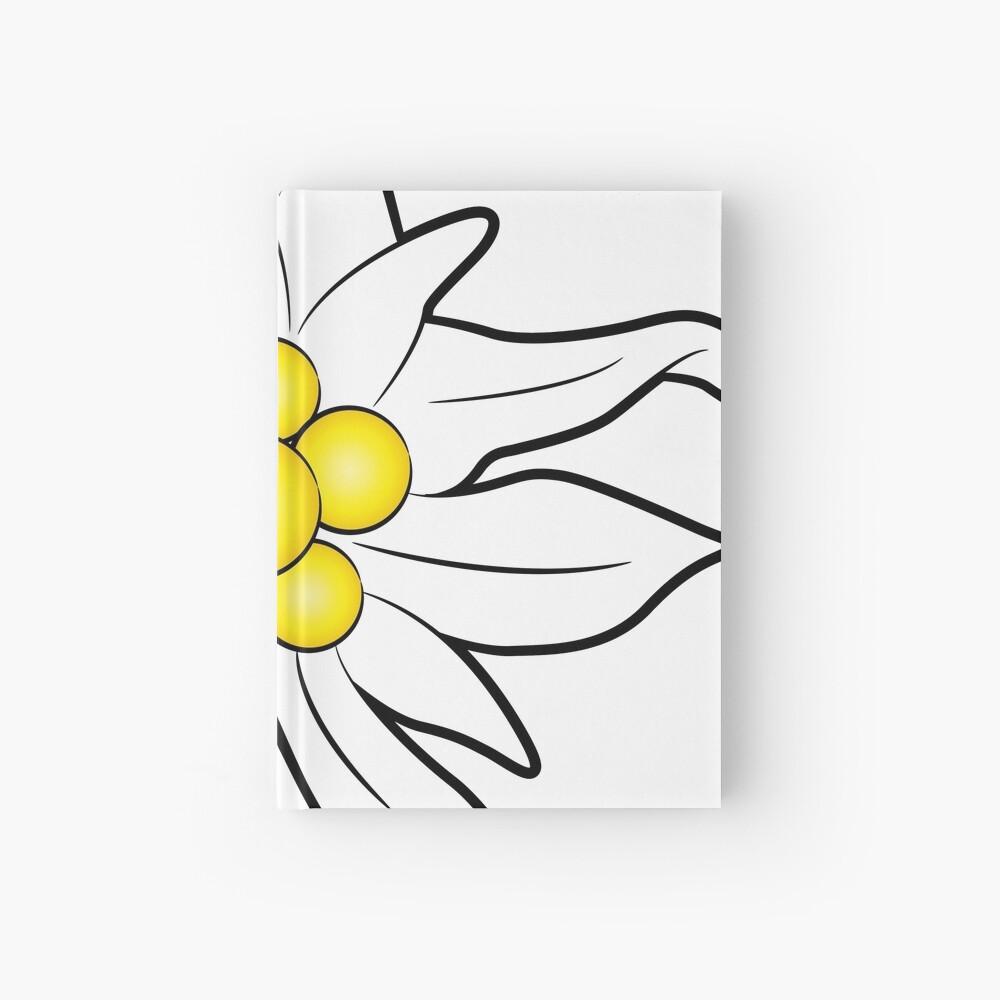 Edelweiss flower Hardcover Journal