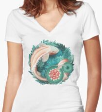 Fish  Women's Fitted V-Neck T-Shirt