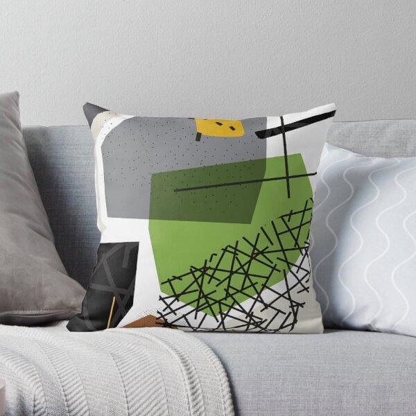 Go!  // Abstract Scribble Retro Throw Pillow