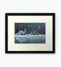 Whitened by frost Framed Print