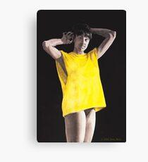 The yellow shirt Canvas Print