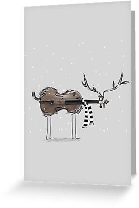 Christmas Violin Reindeer by tonadisseny