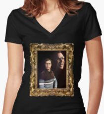 A Portrait of Swagger Women's Fitted V-Neck T-Shirt