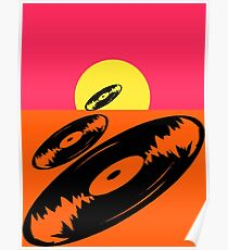 Pop Art Vinyl Record Endless Poster